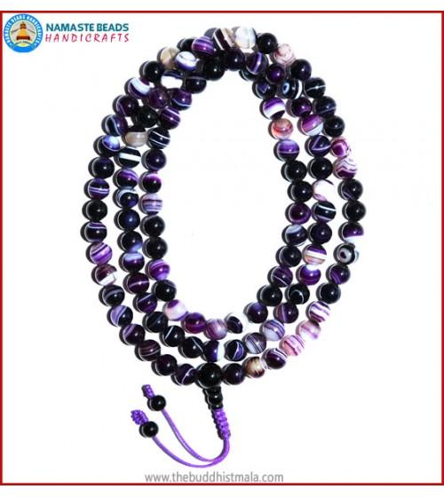 Purple Agate Mala