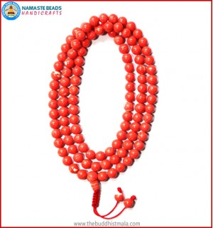 Reconstituted Pink Coral Mala
