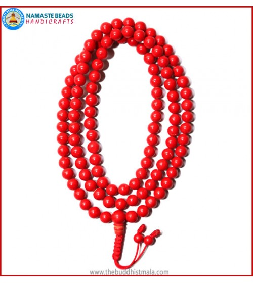 Reconstituted Red Coral Mala