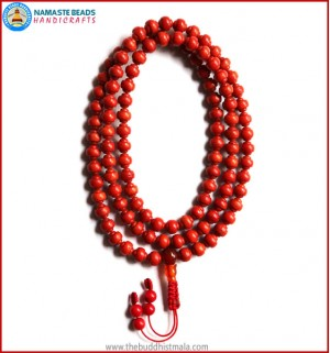 Carved Coral Mala