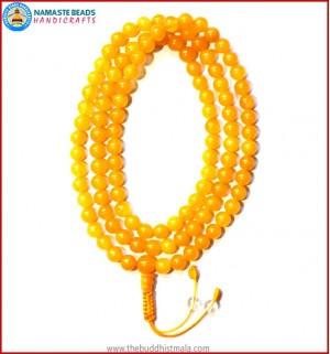 Honey Yellow Jade Stone Mala