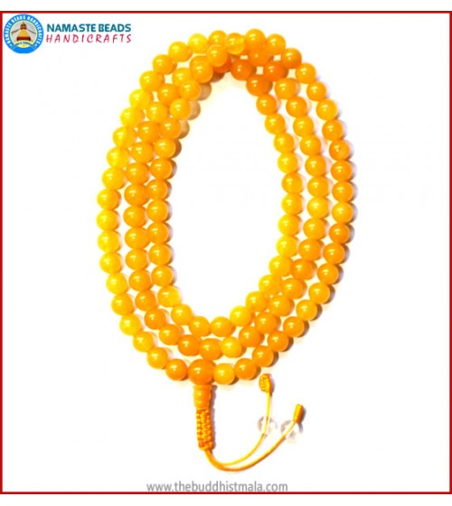 Honey Yellow Jade Stone Mala