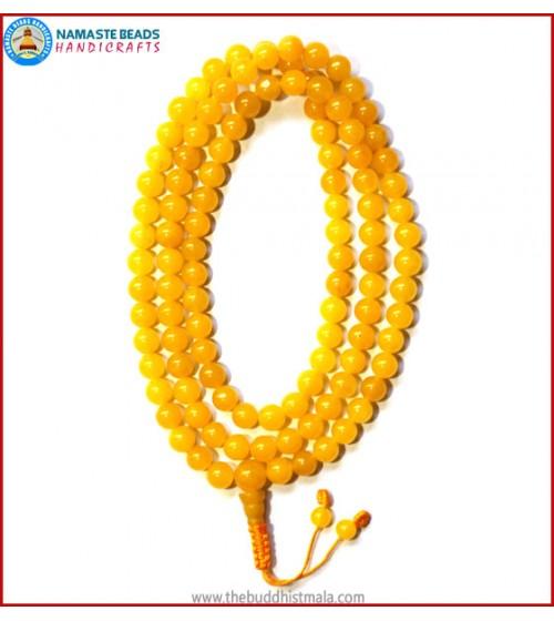 Yellow Jade Stone Mala
