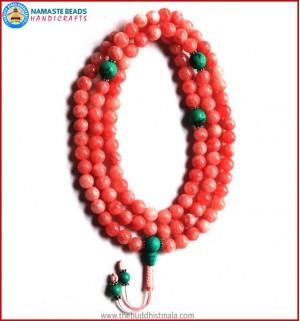 Rose Quartz Mala with Turquoise Guru Bead