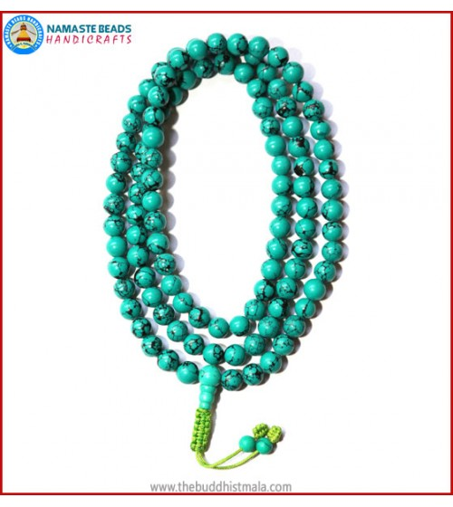 Reconstituted Turquoise Mala