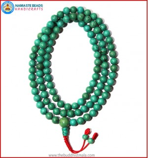 Best Quality Turquoise Mala with Fixed Knot