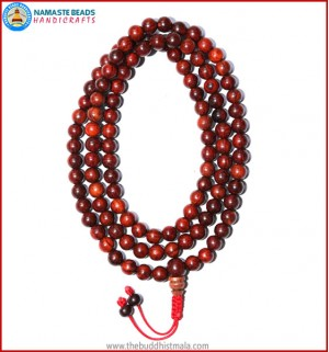 Red Sandal Wood Mala