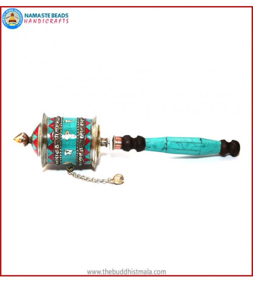 "Buddha Eye & Mantra Prayer Wheel ""Large"""