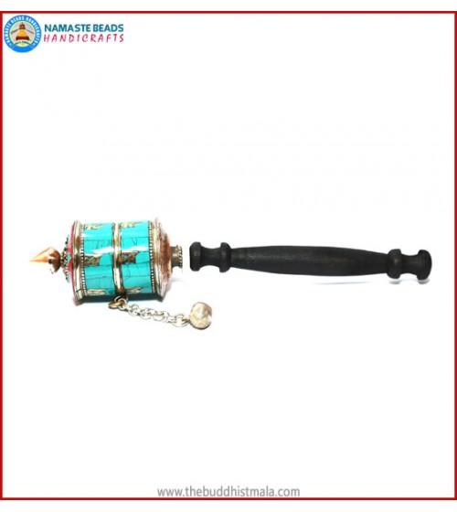 Turquoise & 2 Row Mantra Prayer Wheel