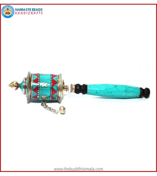 Coral & Turquoise Prayer Wheel