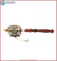"""""""8 Auspicious Symbol"""" Copper & Brass Prayer Wheel"""