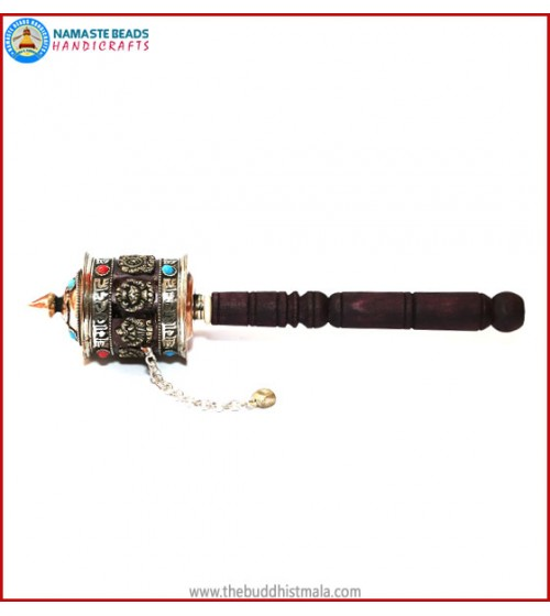Sanskrit Mantra & 8 Auspicious Symbol Prayer Wheel
