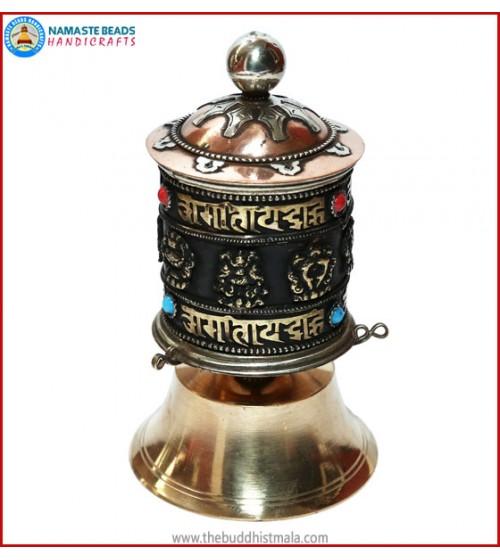 """8 Auspicious Symbol"" Table prayer wheel"