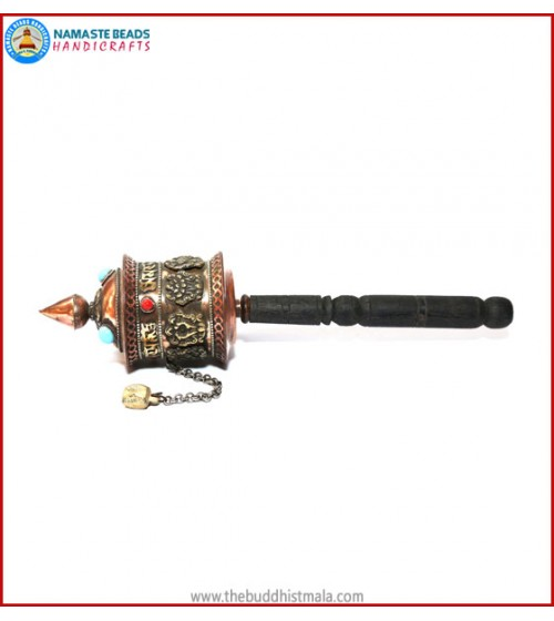 """8 Auspicious Symbol"" Prayer Wheel"
