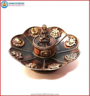 """8 Auspicious Symbol"" Copper Incense Burner"