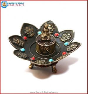 8 Auspicious Symbol Copper Incense Burner