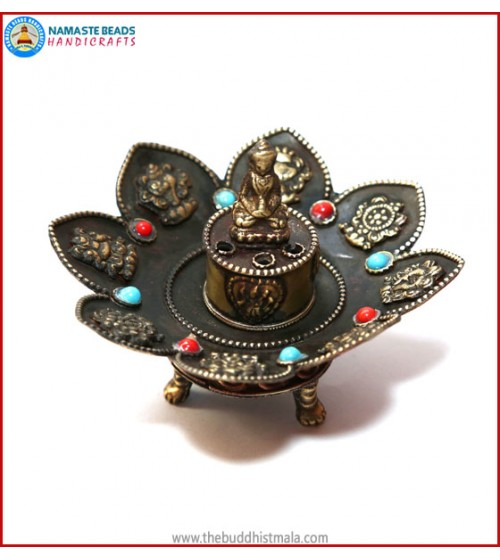 8 Auspicious Symbol Copper Incense Burner