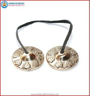 8 Auspicious Symbol Bronze Tingsha