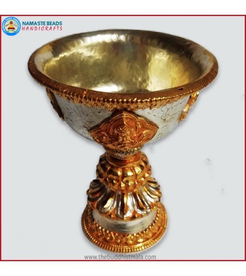 Silver & Gold Plated Copper Butter Lamp
