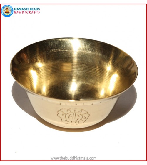 Brass Water Offering Bowl Set