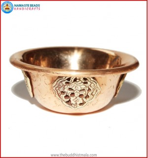 Copper Water Offering Bowl Set