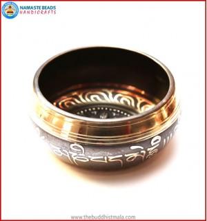 "Mantra Itching & Inside ""4 Buddha"" Symbol Singing Bowl"