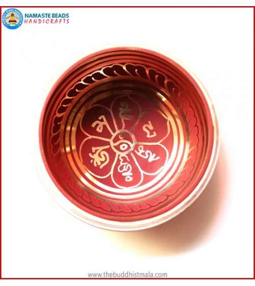 Mantra Itching Red Singing Bowl