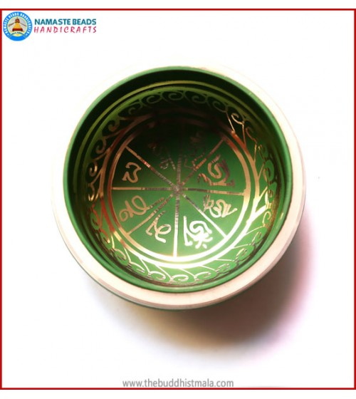 Mantra Itching Green Singing Bowl