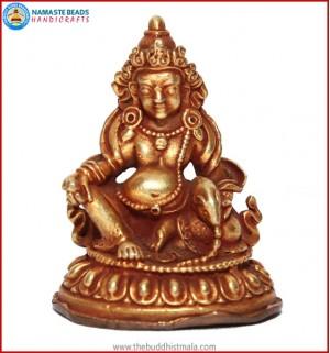"""""""Zambhala"""" Brass Statue"""