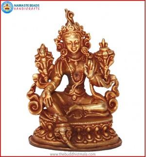 """""""White Tara Buddha"""" Brass Statue"""