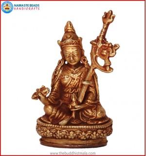 """Guru Rinpoche"" Brass Statue"