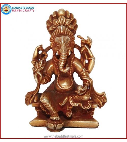 """""""Ganesha"""" Brass Statue"""