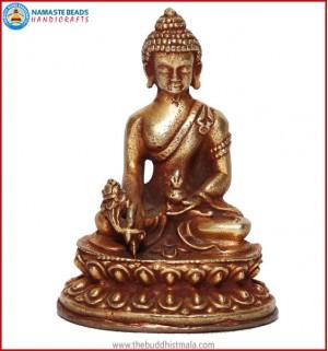 """Medicine Buddha"" Brass Statue"