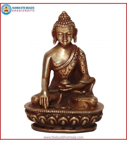 """""""Sakyamuni Buddha"""" Brass Statue"""