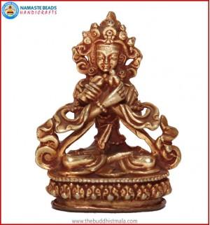 """""""Vajradhara Buddha"""" Brass Statue"""
