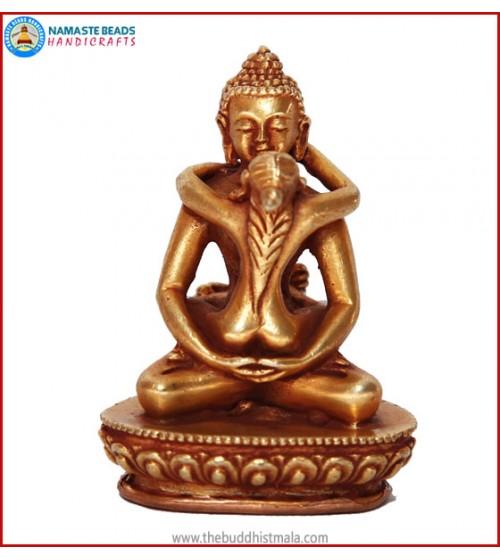 """""""Buddha Samantabhadra"""" Brass Statue"""