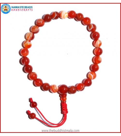 Red Agate Stone Wrist Mala