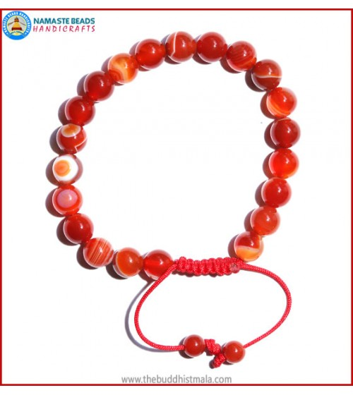 Red Agate Stone Bracelet