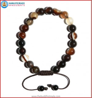 Brown Agate Stone Bracelet