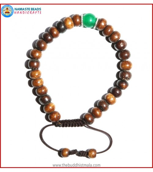 Brown Bone Bracelet Jade Bead