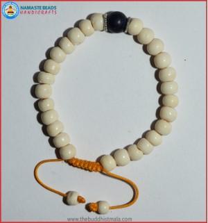 White Bone Bracelet Lapis Lazuli Bead