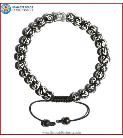 Manta Itching Bone Bracelet with Buddha Head