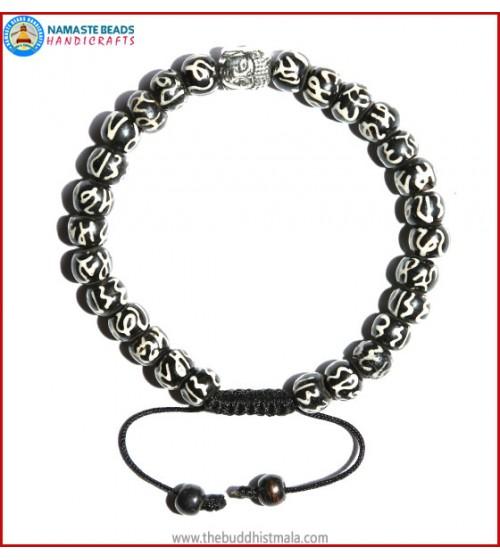 Manta Itching Bone Bracelet with Buddha Head
