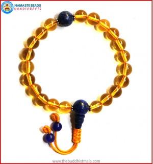 Citrine Wrist Mala with Lapis Lazuli Guru Bead