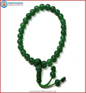 Green Jade Stone Wrist Mala