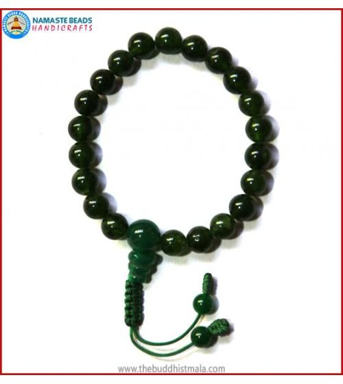 Tibetan Dark Jade Stone Wrist Mala