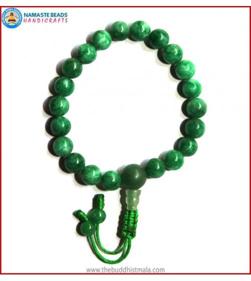 Taiwanese Jade Stone Wrist Mala