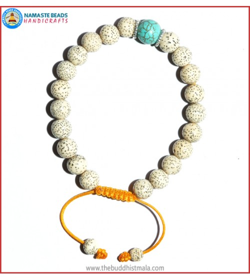 Lotus Seed Bracelet with Turquoise Bead