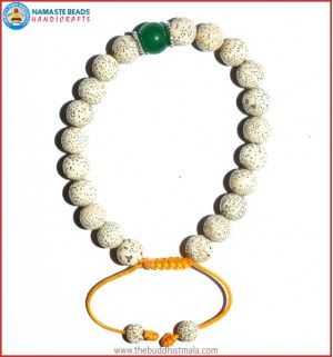 Lotus Seed Bracelet with Jade Bead