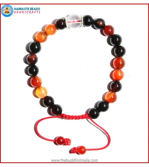 Mix Agate Stone Bracelet with Crystal Bead
